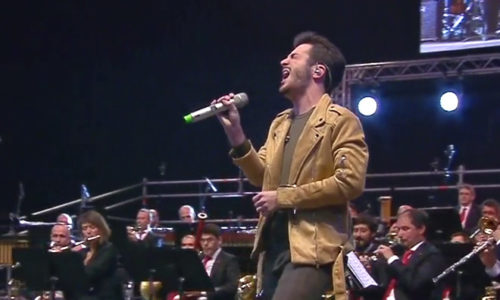 """Javier participa en el gran concierto del centenario de la banda """"La Pamplonesa"""""""